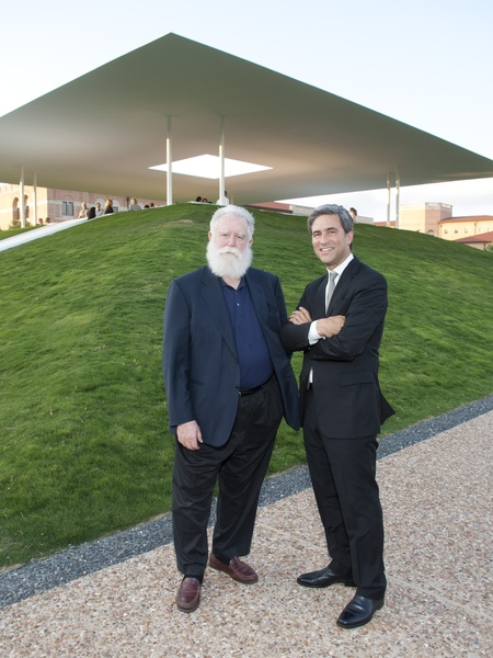 News_012_Turrell Skyscape dedication_May 2012_James Turrell_Michael Govan.jpg