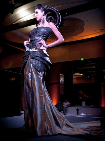 Lacey Bollinger in Mugler Bustier with Ballskirt, Renaissance Hotel Opening
