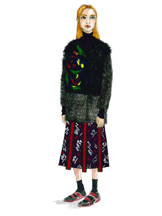 Clifford New York Fashion Week fall 2015 sketch February 2015 SUNO