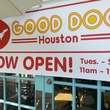 Good Dog Houston open sign on front of doors November 2013