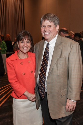 Meredith and Gene O'Donnel at the College of Biblical Studies Rising Star Dinner May 2014