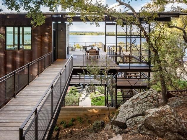 Houzz Austin home house fire tower Lake Flato architect