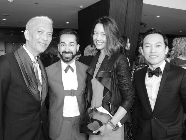 26 Marc Huynh, Fady Armanious, Carrie Colbert, Andrew Huynh at the Best Dressed luncheon March 2015