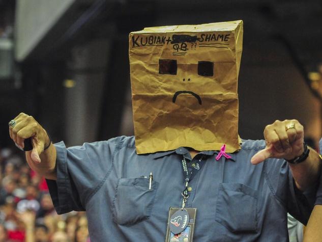 Texans fan bag head