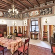 On the Market Castel Valer in northern Italy near Milan May 2014 lunch or breakfast room