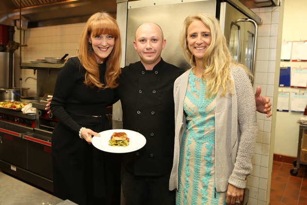 15 Gracie Cavnar, from left, James NAME and Nanette Lepore at Dress for Dinner March 2014