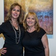 Kim Jessup, left, and Karen Newell at Justin Garcia presents 7 Unlayered October 2014