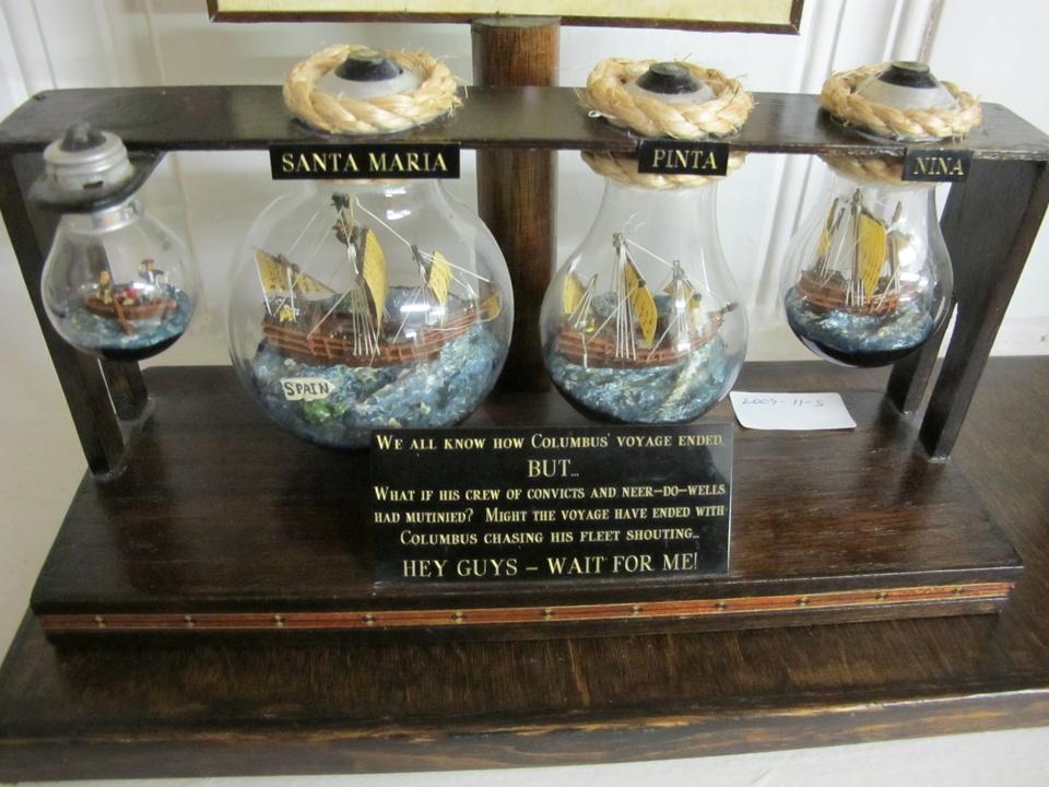 Columbus's fleet in light bulbs