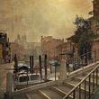 "Archival pigmented ink print, ""Venice Bridge and Sky,"" by Dan Burkholder"