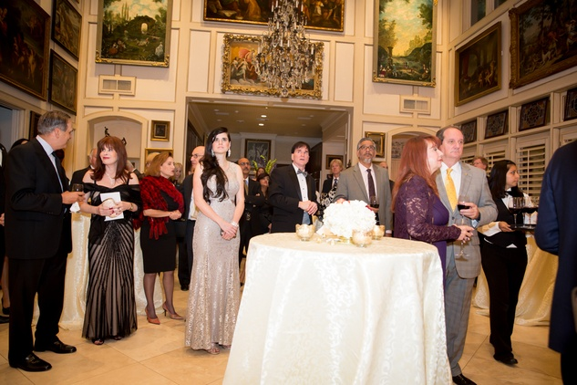 6 Touring the fab art work of the Gabels during the reception at the Houston Galveston Institute dinner November 2014