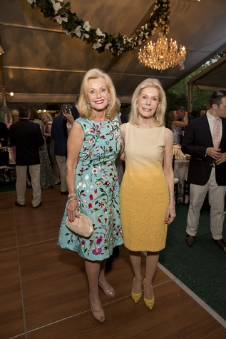 Pat Breen, left, and Frances Marzio at the Bayou Bend Garden Party March 2015