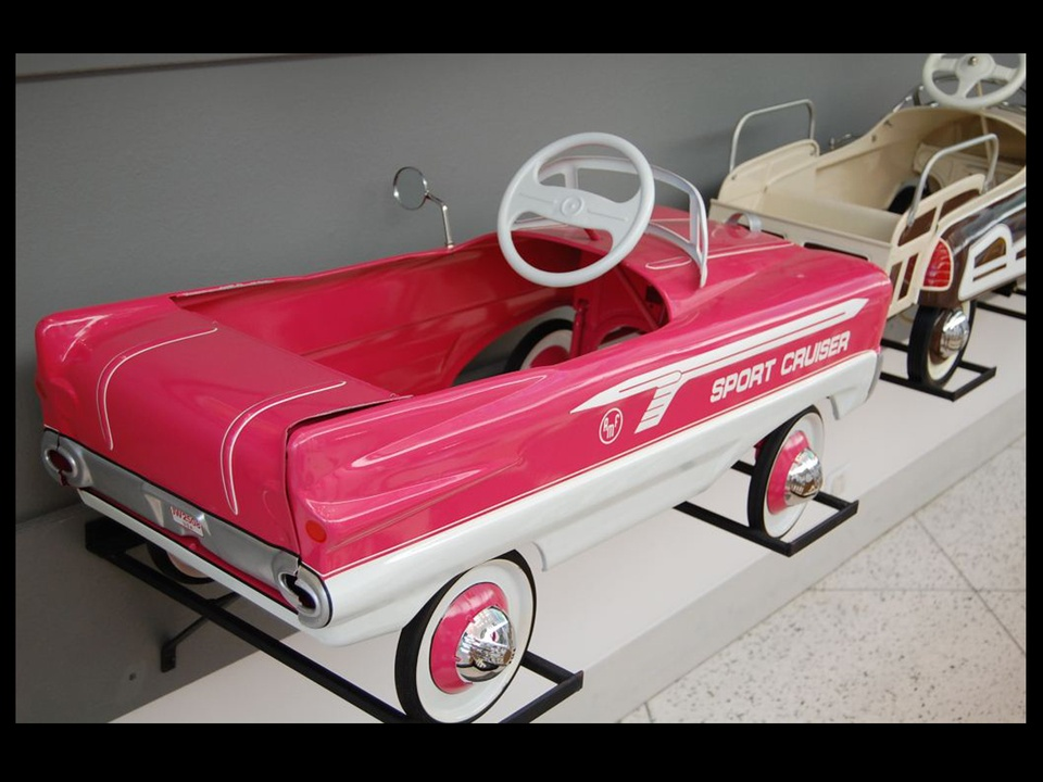 357, Children's Museum of Houston, vintage pedal car exhibit, November 201, BLACK SPACE