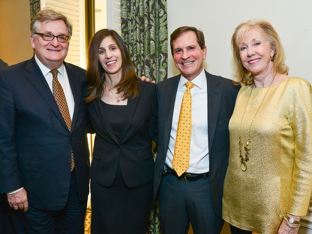 James Calaway, from left, Barbara and Tom Gros and Catherine Mosbacher at the Center for Houston's Future dinner October 2013