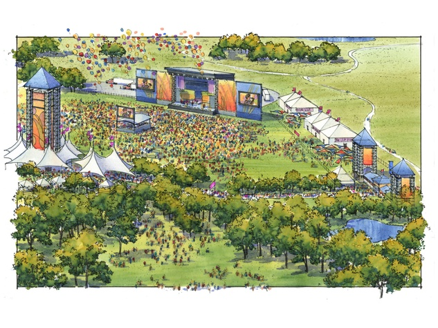 Suburbia Music Festival layout