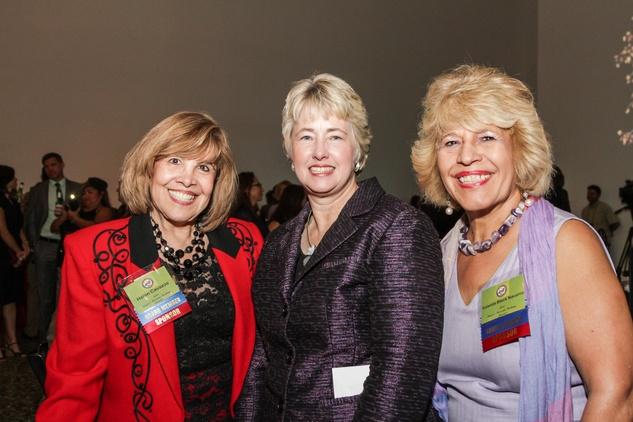 Helen Cavazos, from left, Mayor Annise Parker and Yolanda Black Navarro at the Mayor's Hispanic Heritage Awards event October 2014