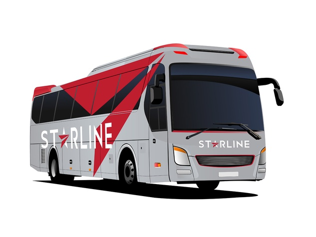 Starline bus service to football games bus September 2013 rendering