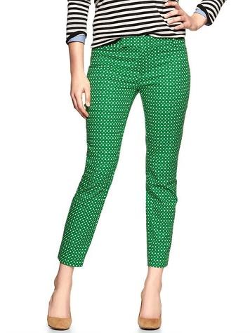 the gap Slim cropped print pants