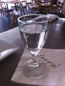 Sorrel Urban Bistro glass of vodka
