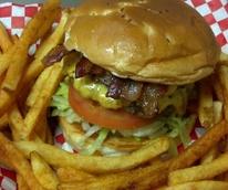 Goode Company Hamburgers and Taqueria, hamburger, burger, french fries