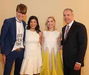Ken Downing, Kristy Bradshaw, Isabel David, Bob Devlin at Best Dressed Luncheon 2017