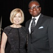 Dorothy Bolettieri and Dr. Kayode Makinde at the Medical Bridges gala October 2013