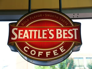 Seattle&#39;s Best Coffee sign