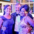 Rachel Good, from left, Marcus Sloan and Carliss Chatman at Bering Omega's Sing for Hope after-party