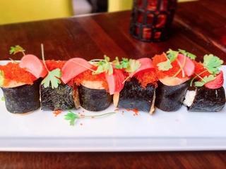 Isla restaurant bar Austin make causa sushi