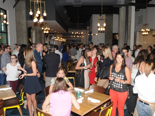 13 Coppa Osteria party September 2013 crowd, venue
