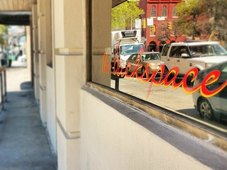 The Backspace_Austin restaurant_window sign_2015