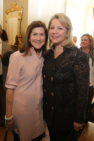 18 Stephanie Shanks, left, and Elizabeth Vail at the The Center Luncheon February 2015