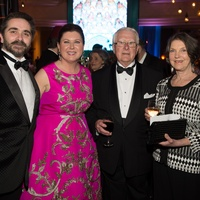 Stanton Welch, from left, Shawn Stephens, Garth Welch and Marilyn Jones at the Houston Ballet Ball February 2014