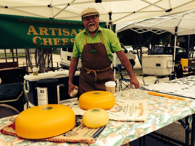 Cheesemaker at white Rock Local Market in Dallas