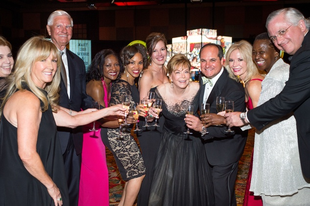 19 Mary Eads, from left, Doug Pitcock, Linda Bell, Angela James, June Reeder, Jo Ann Petersen, John Sarvadi, Cheryl Boblitt, Ronda Robinson and Randy Walker at the Covenant House Gala March 2015