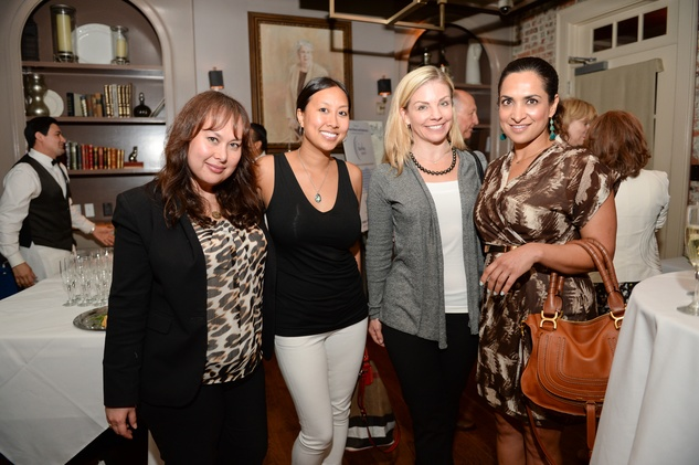 19 Lisa Wilmore, from left, Kim Ross, Peggy Rue and Sanila Rana at The Thread Alliance Blue Plate Special kick off April 2015