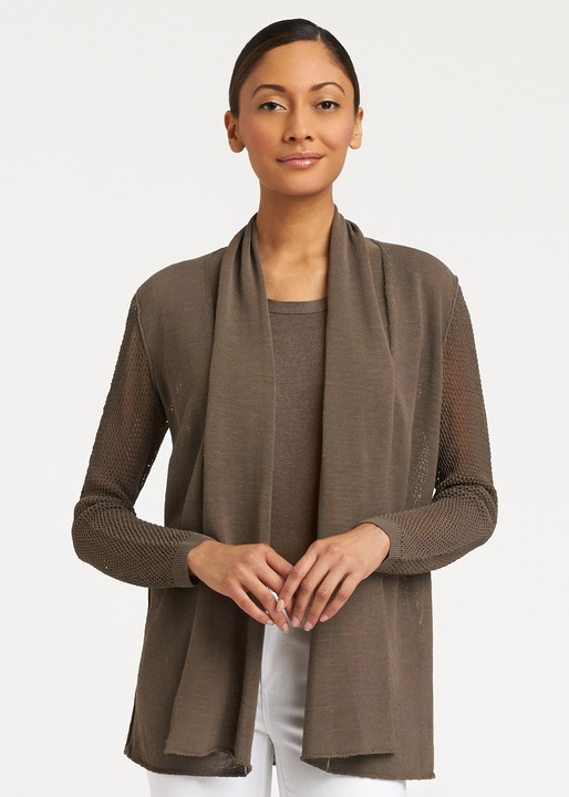 office summer sweaters LaFayette 148 New York closssed linen shawl collar cardigan 348