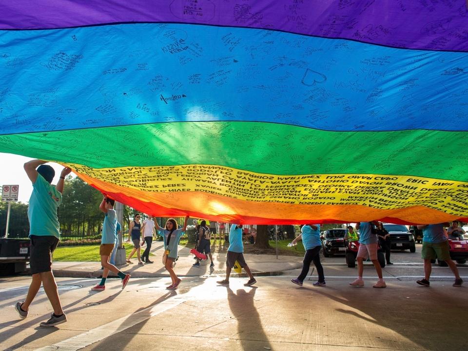 Houston Pride Parade 2016 flag