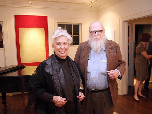 Salle and Jimmy Vaughn at the Da Camera Opening Night party October 2013