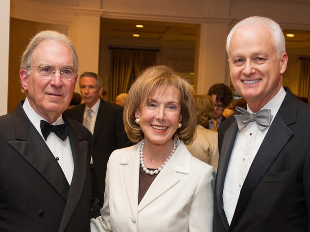 Charles and Diane Ofner, from left, with Craig Mabrito at the Preservation Houston Cornerstone Dinner February 2014