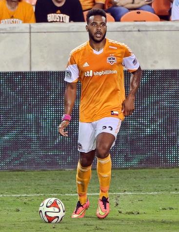 Houston Dynamo soccer Giles Barnes April 2015