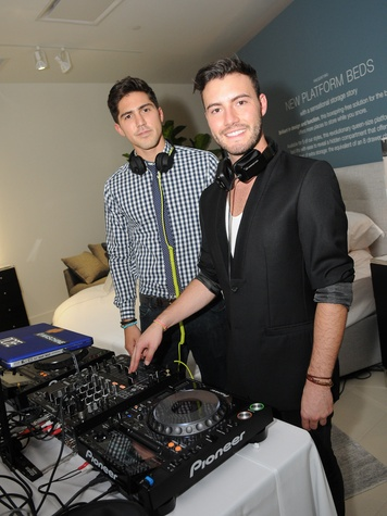 Mexico City's Hottest DJs Tom & Collins at the Mitchell Gold + Bob Williams Houston grand opening celebration