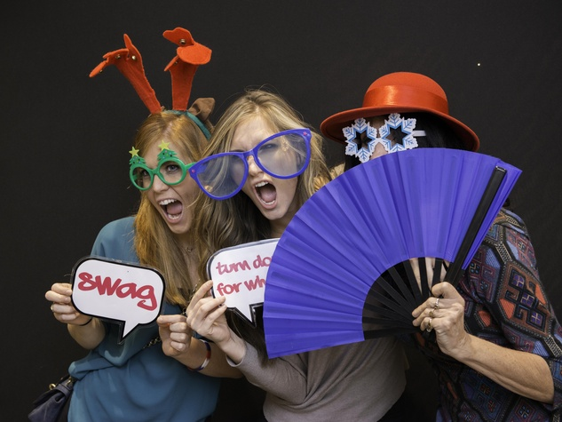News, Shelby, Twins Wish List party, December 2014, Amber Hartland, Rebekah Hartland, Joan Hartland