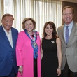 6 0392 Bob Bradford and Barbara Taylor Bradford, from left, and Maria and Neil Bush at the Women's Home tea April 2015