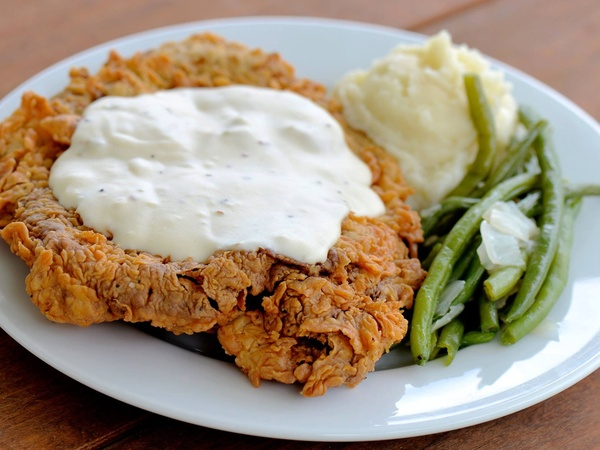 Chicken fried steak at Killen's Barbecue is only $13.95 with two sides ...