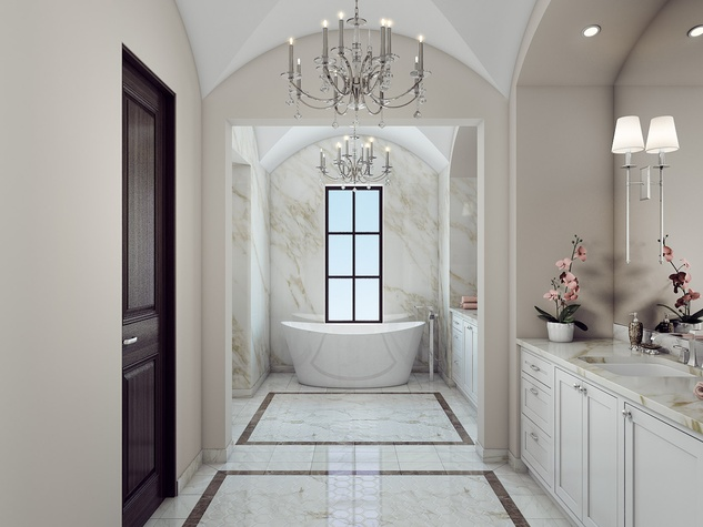Houston, News, Shelby, Sudhoff Hampton Lane Collection, April 2015, 2203 Looscan - master bath