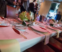 33 table setting place setting at the Hublot dinner party at Tony's October 2013
