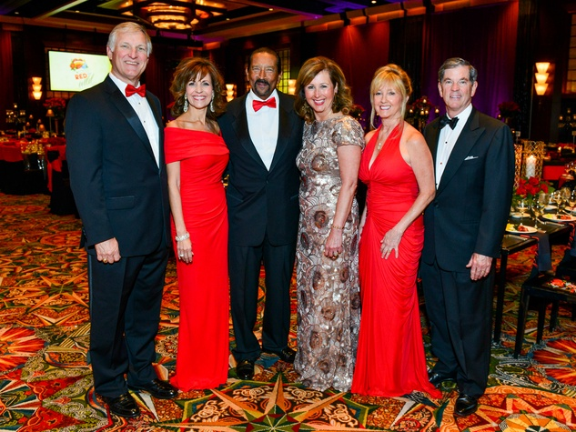 Dana and Trey Strake and Mary and John Eads with Memorial Hermann Foundation CEO Ileana Treviso and husband Michael at the Memorial Hermann Gala April 2014