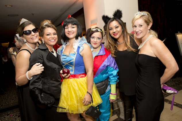 Melissa Smalling, from left, Charlotte Young, Kim Marszalek, Kelly Dees, Dao Carroll and Laura Schlameus at The Bash A Halloween Happening October 2014