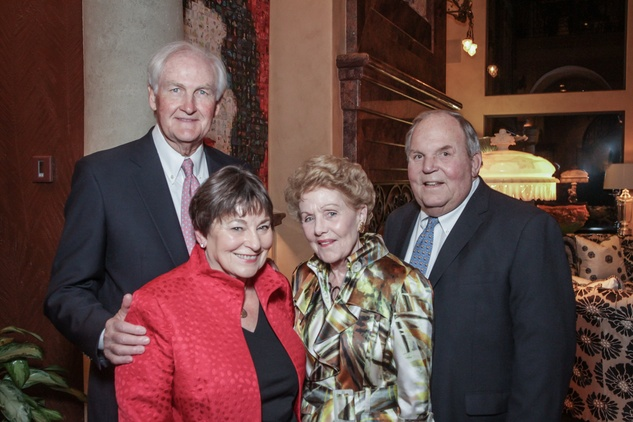 Men of Distinction dinner, Feb. 2016, John Riley, Diane Riley, Emily Crosswell, Holcombe Crosswell