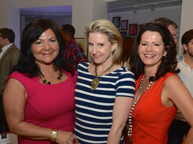 2 Antigone Vastaris, from left, Lori Frees and Cynthia Jones at the CultureMap Social at Gremillion and Co. Fine Art March 2015
